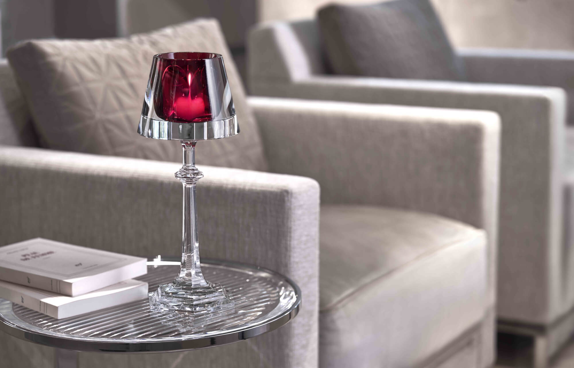 Harcourt My Fire, candle holder (Baccarat) - Kitchen Tableware