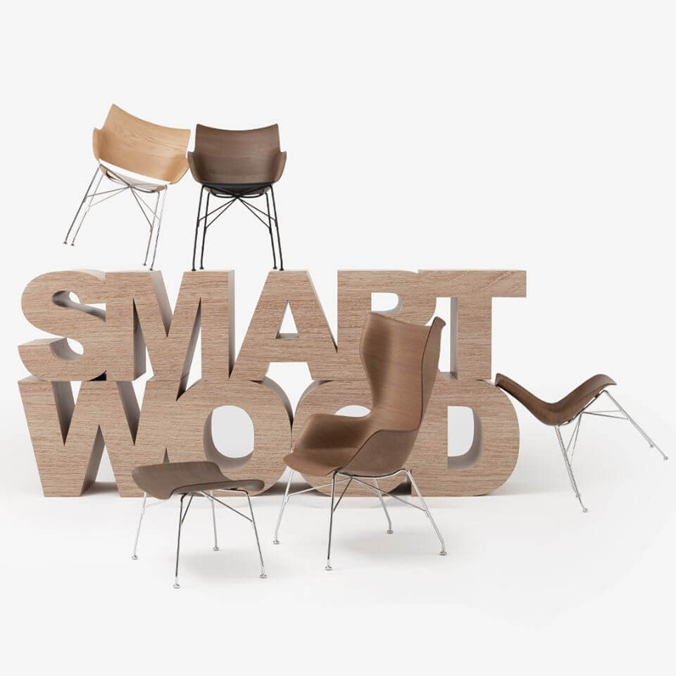 SMART WOOD by Starck for Kartell: when wood meets technology