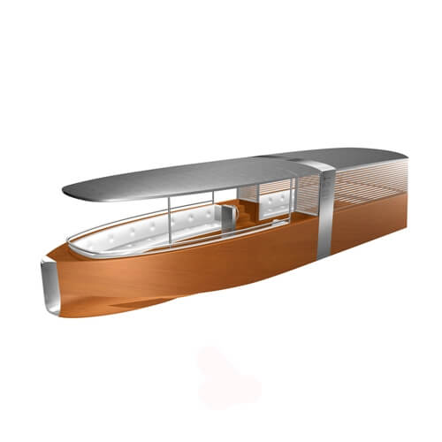 Venetian Taxi, solar powered boat (project)