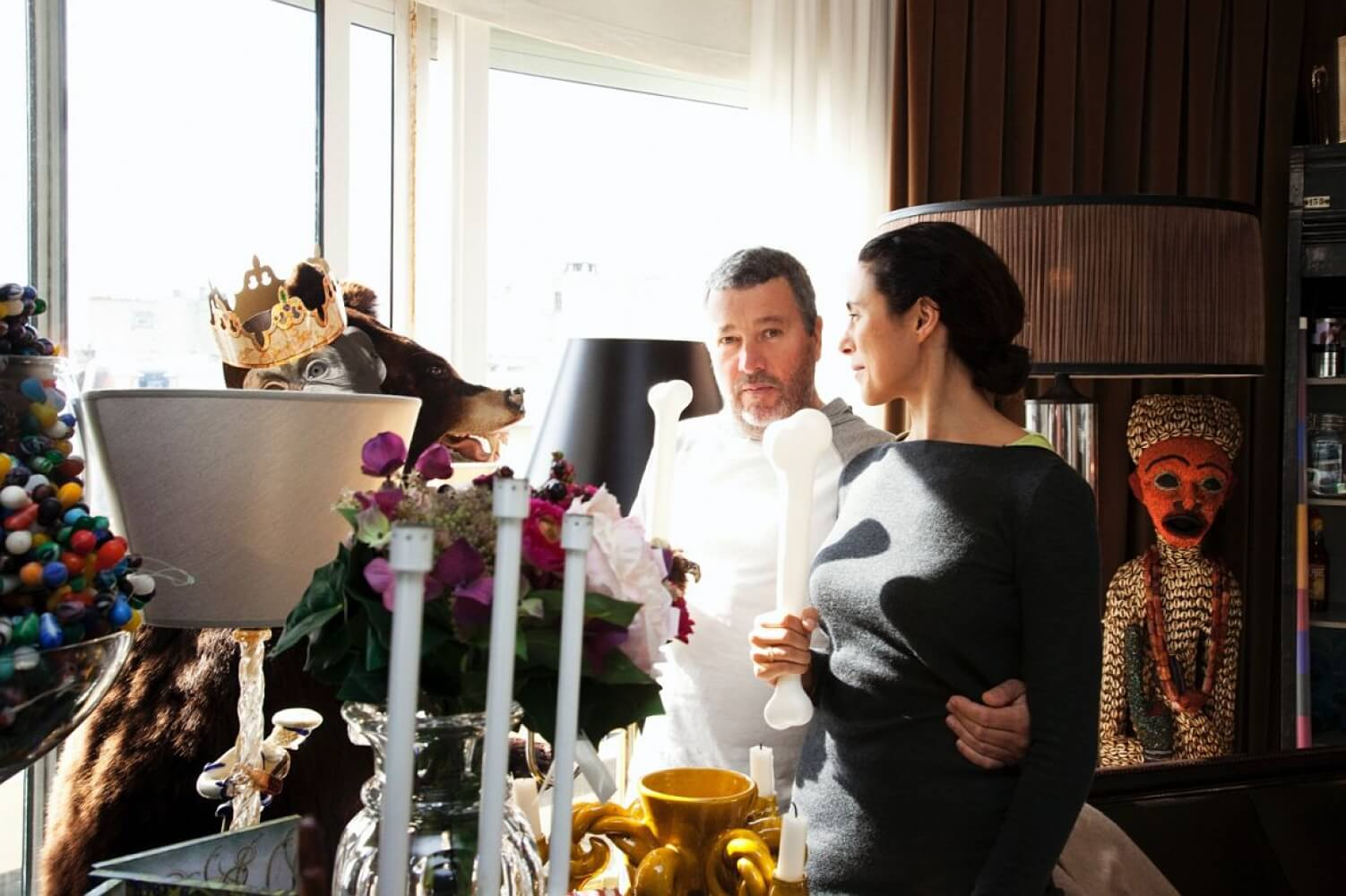 Philippe Starck and Jasmine Starck ©Tod Shelby -