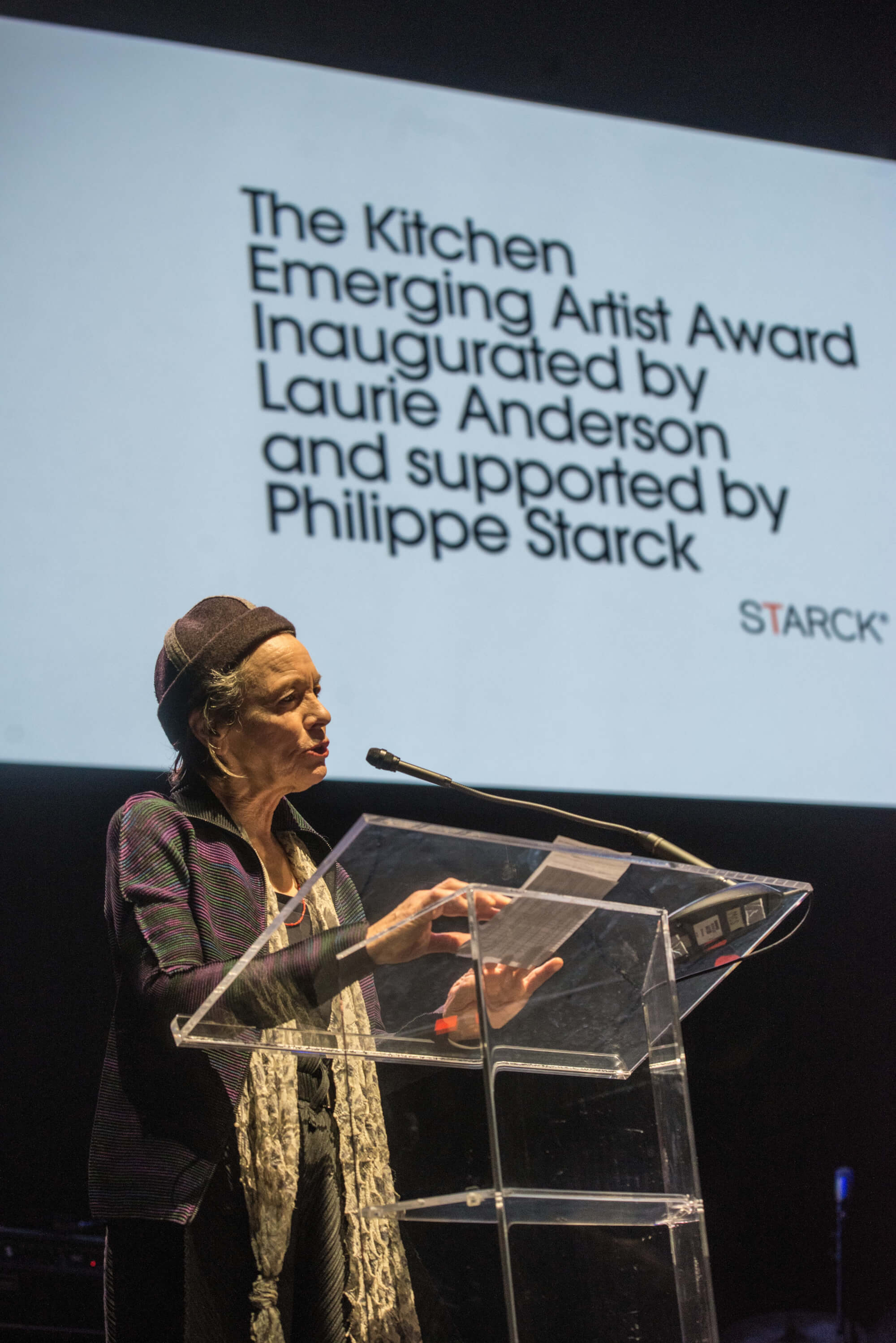 Starck supports the first The Kitchen Emerging Artist Award inaugurated by artist Laurie Anderson
