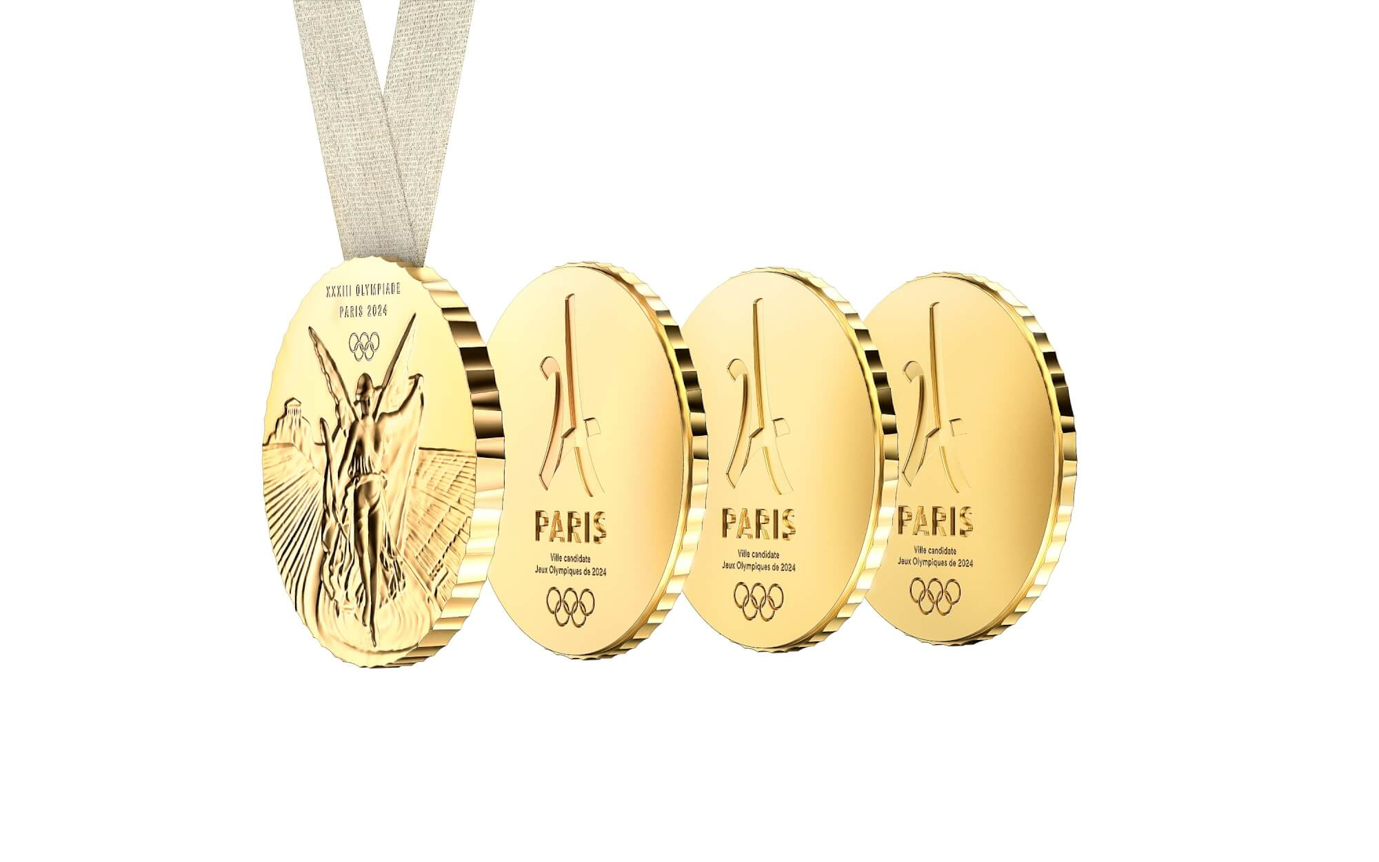 "French Bid Committee and Philippe Starck presented the Paris 2024 Olympic Medal: a medal really ""made for sharing"" -"