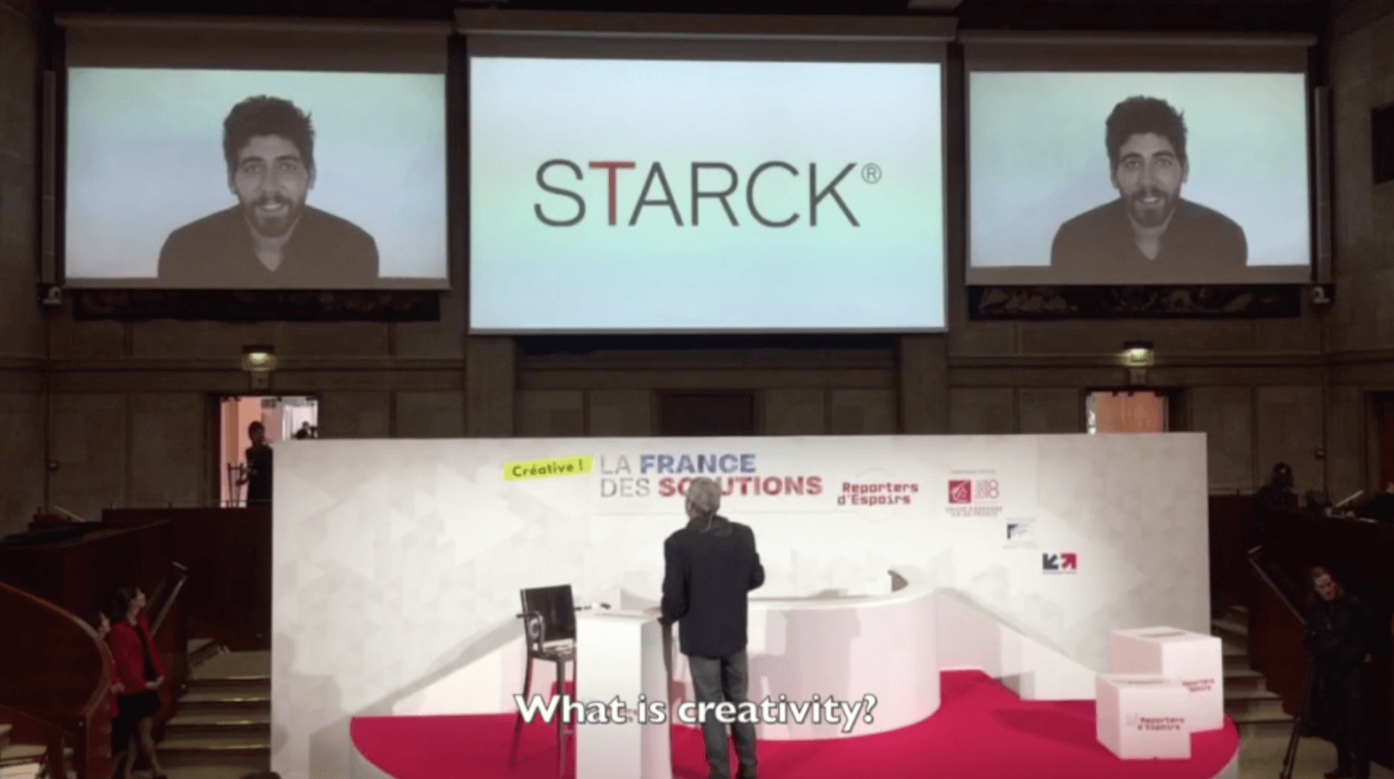 Philippe Starck presented a definition of creativity at La France des Solutions 2017 -