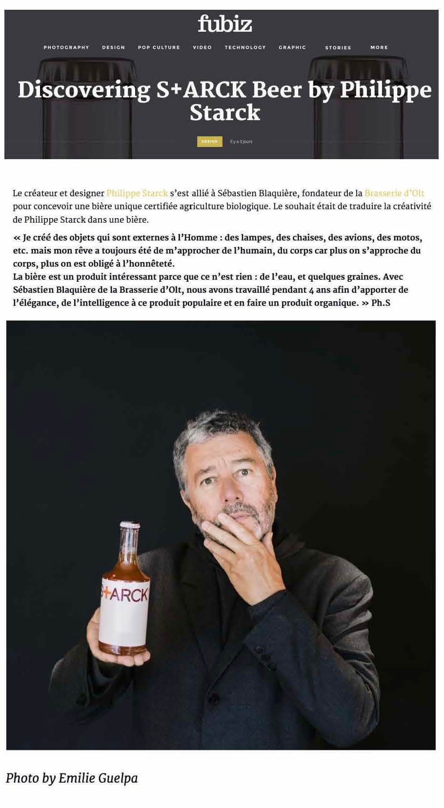 Discovering S+ARCK Beer by Philippe Starck