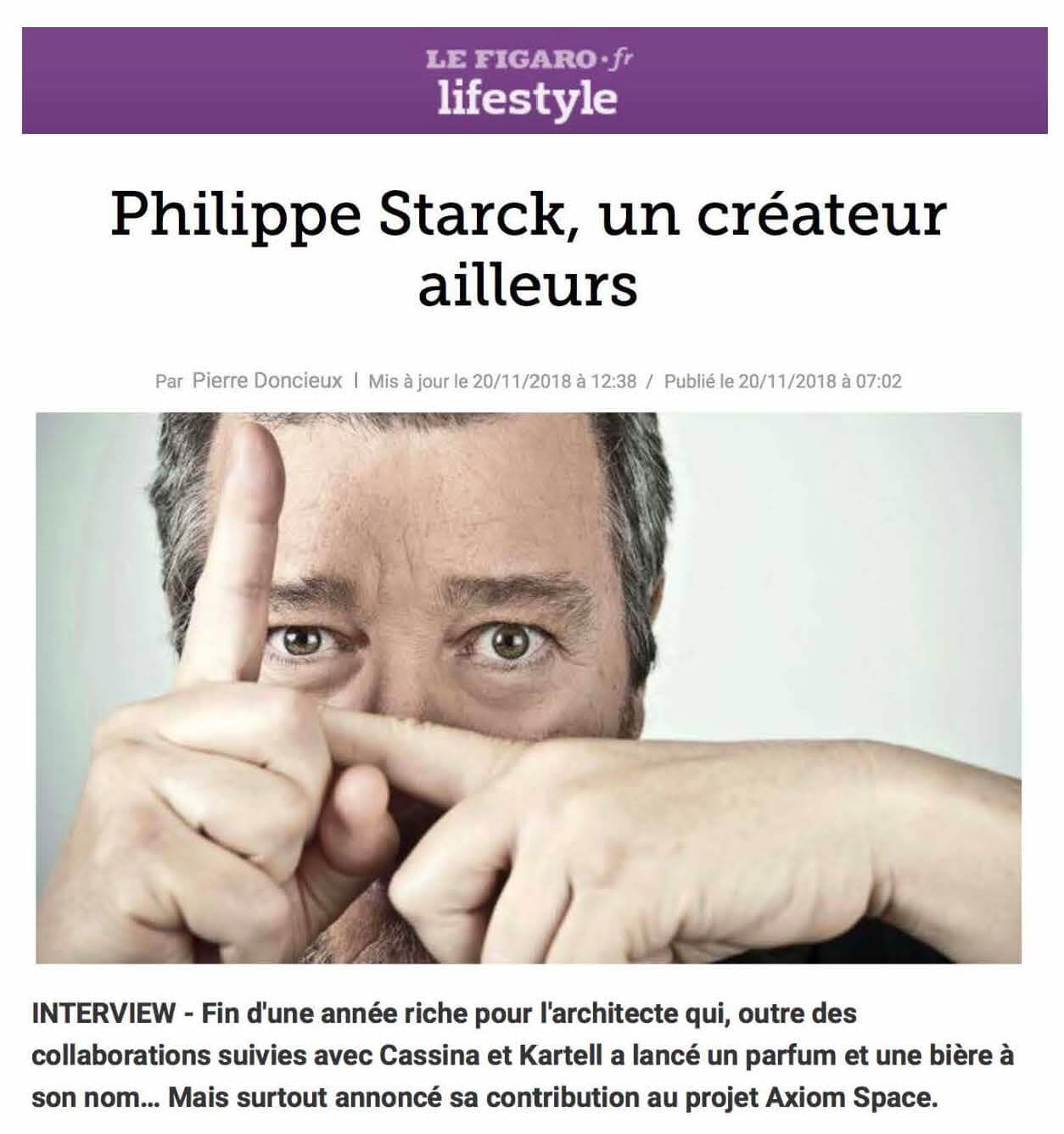Philippe Starck , a creator from elsewhere