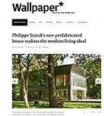 Philippe Starck's new prefabricated house reaslises the modern living ideal