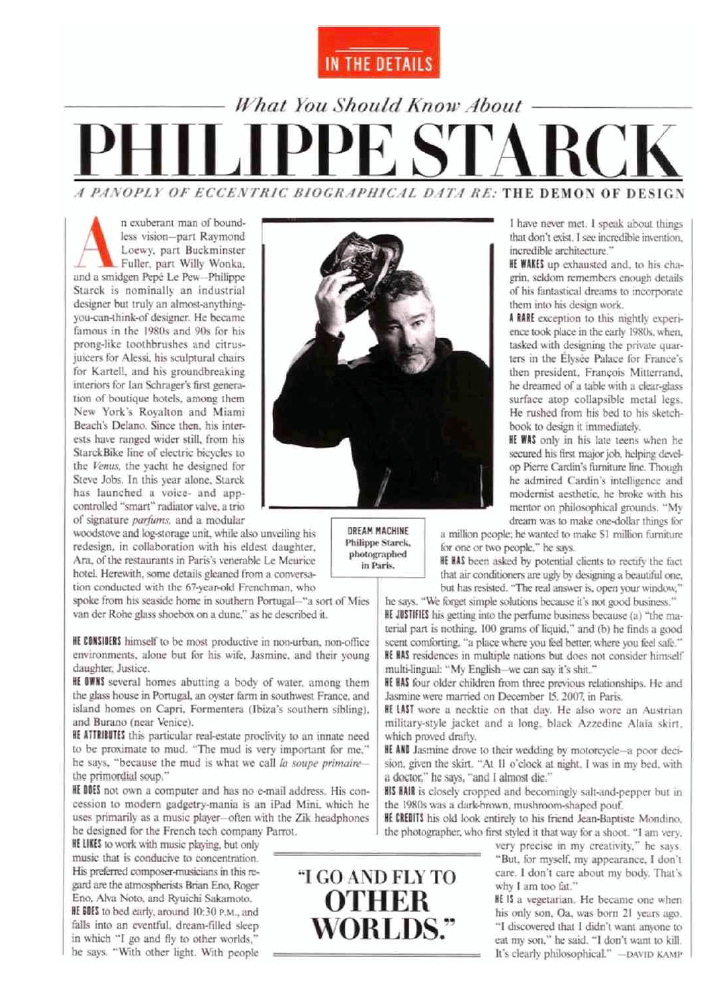 What you should know about Philippe Starck