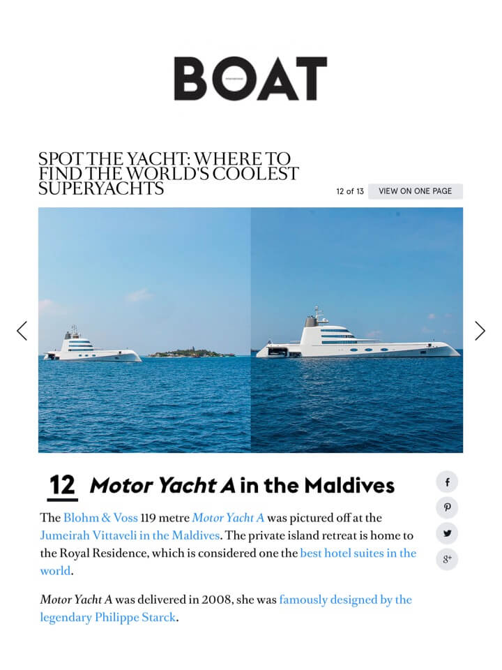 BOAT INTERNATIONAL - Motor Yacht A