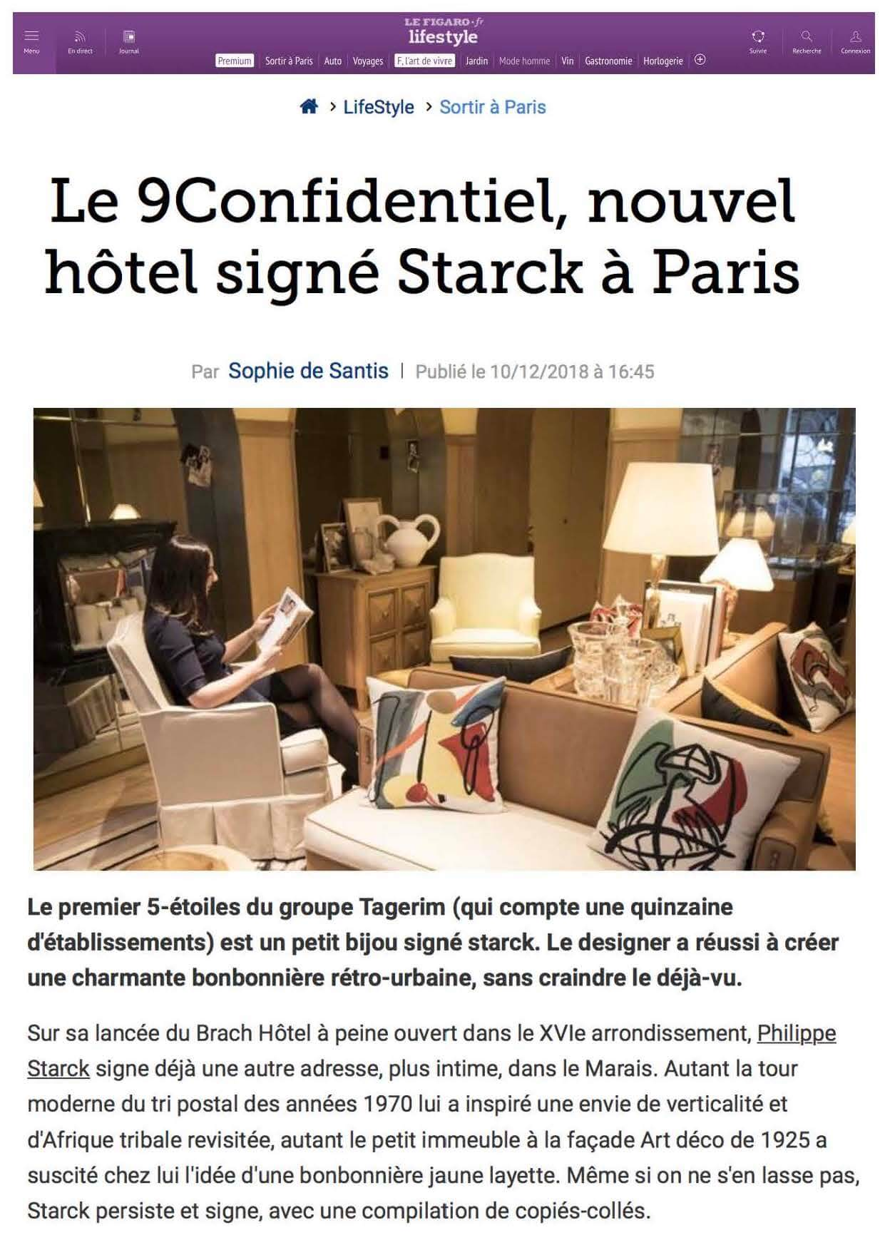 Le Figaro - The new Starck hotel in Paris