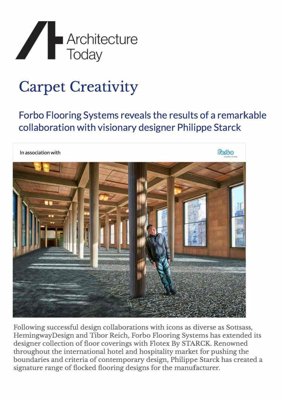Forbo Flooring Systems reveals the results of a remarkable collaboration with visionary designer Philippe Starck
