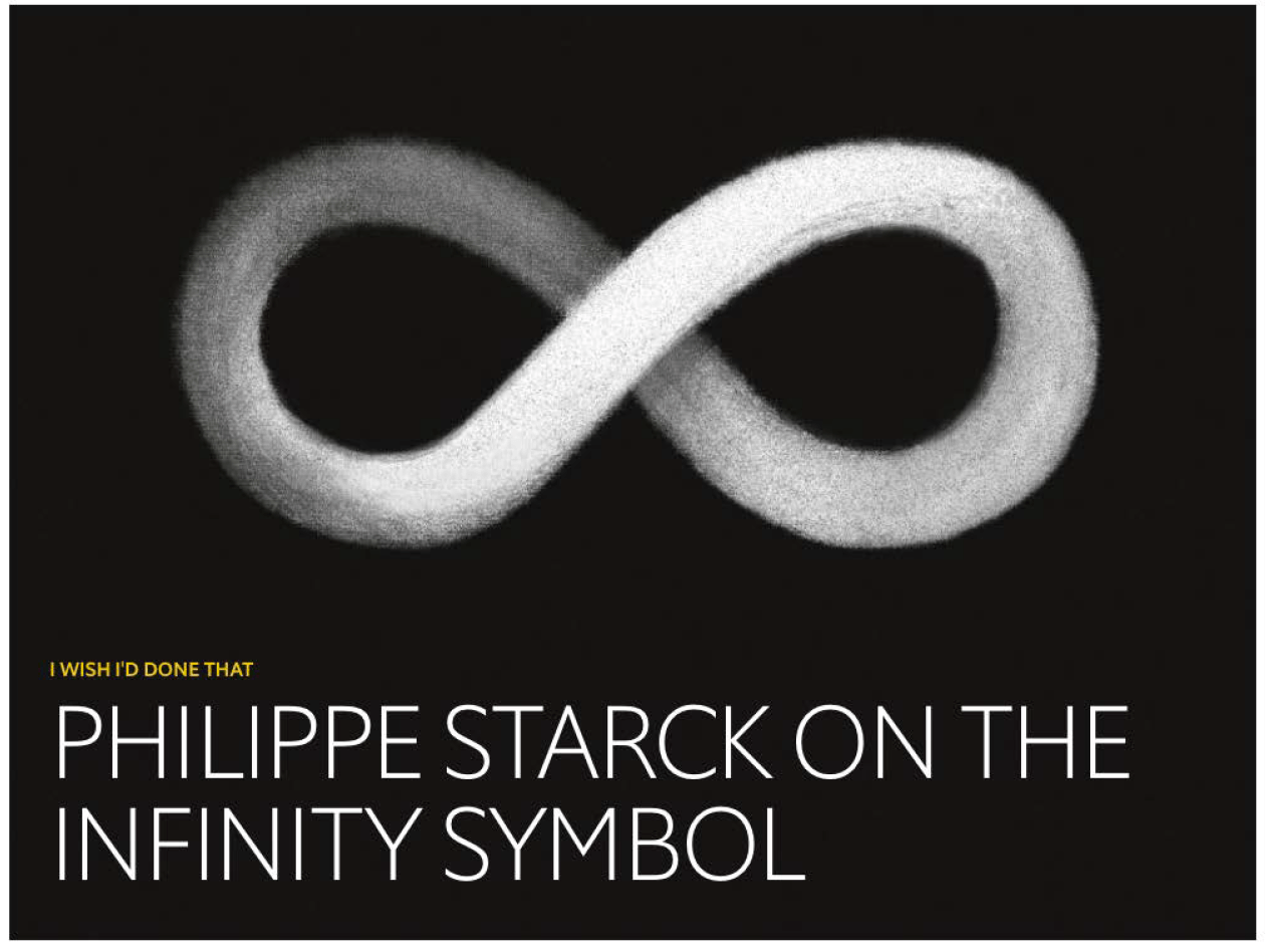 Philippe Starck on the infinity symbol